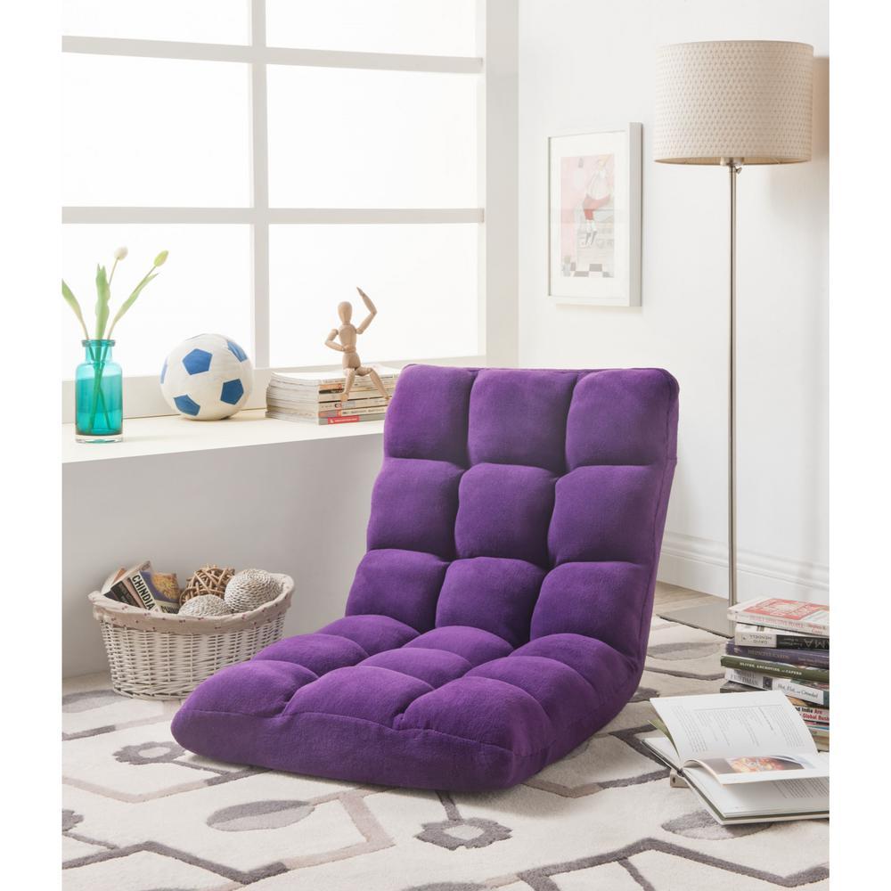 Admirable Purple Bean Bag Chairs Chairs The Home Depot Machost Co Dining Chair Design Ideas Machostcouk