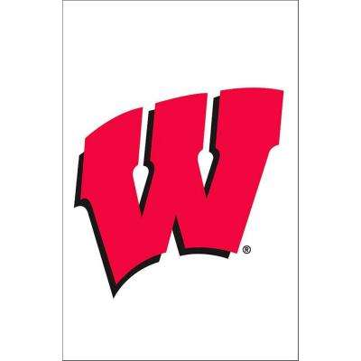 NCAA 12-1/2 in. x 18 in. Wisconsin 2-Sided Garden Flag