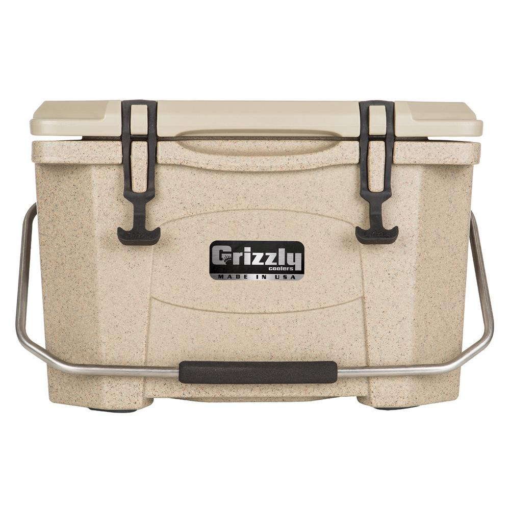 20 qt. Grizzly RotoMolded Cooler Sandstone