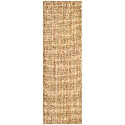 Natural Fiber Beige 3 ft. x 20 ft. Runner Rug
