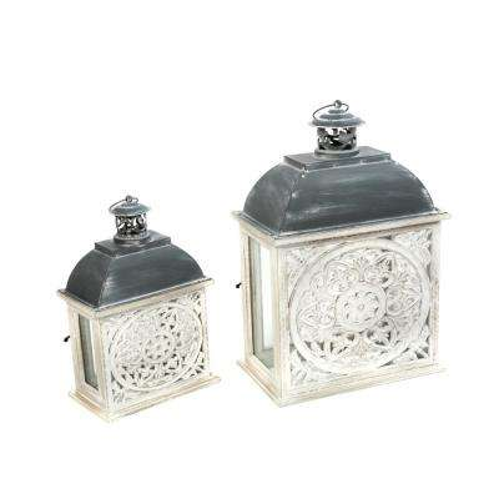 White Nesting Lanterns (Set of 2)
