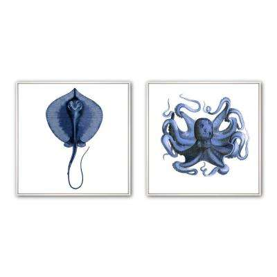 "24 in. x 24 in. ""Sea II Inverse"" Framed Wall Art (2-Piece)"