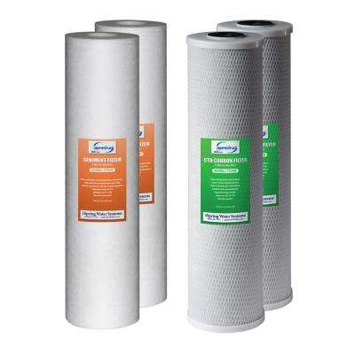 2-Stage 20 in. Whole House 1-Year Supply Fits WCB22B WGB22B