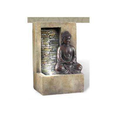 10 in. Antique Buddha Tabletop Fountain