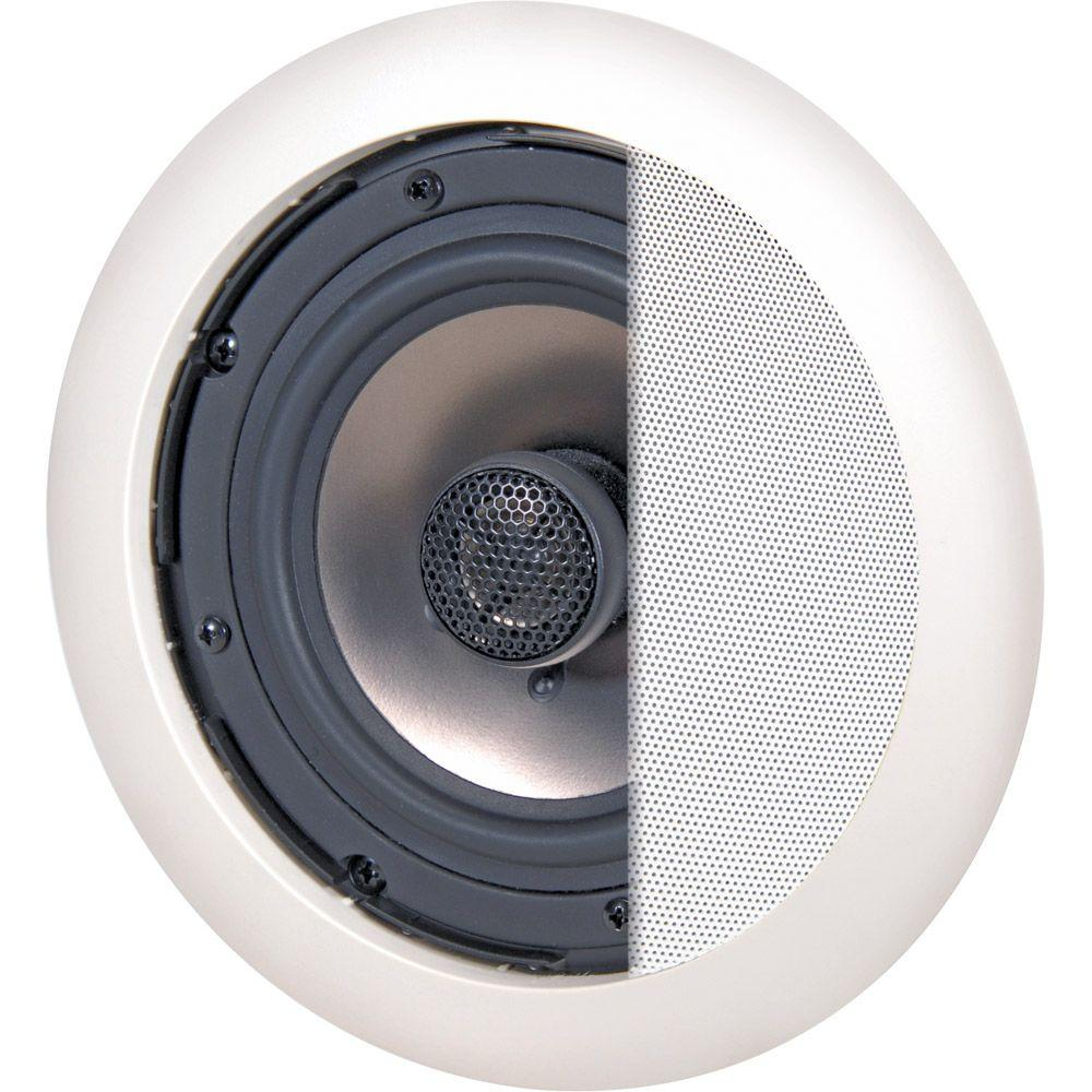 NXG Onyx Series 6.5 in. 80-Watt 2-Way In-Ceiling Speaker System With Tilt-Swivel Tweeter