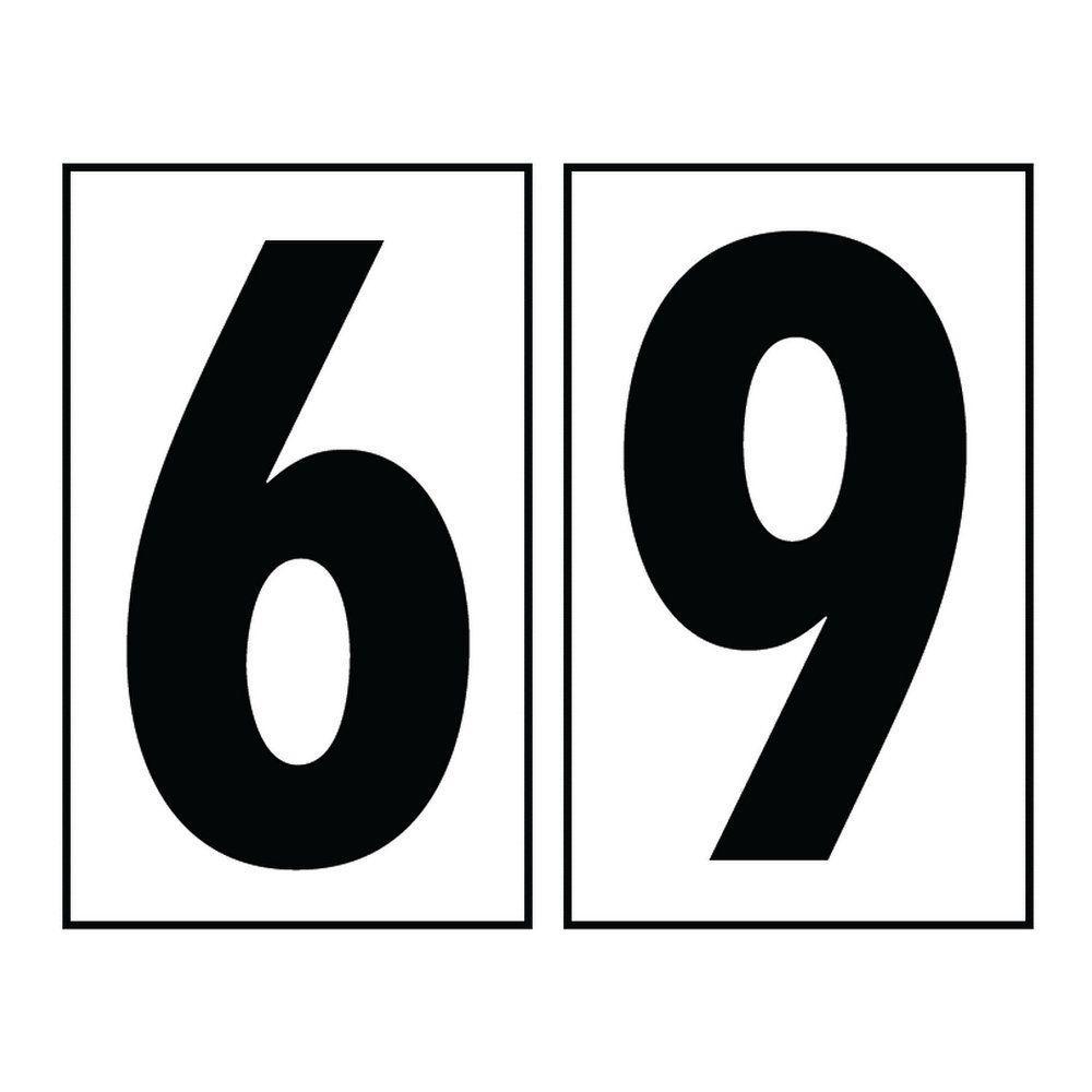 Address Light Collection White Plastic Number 69 Tile