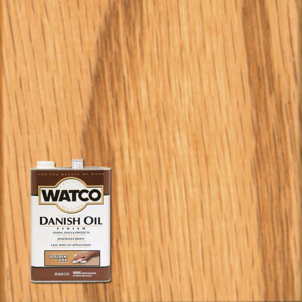 Watco 1 Gal Golden Oak Danish Oil 2 Pack 65131 The Home Depot