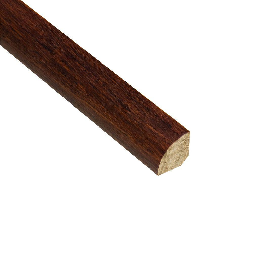 Home Legend Strand Woven Sapelli 3/4 in. Thick x 3/4 in. Wide x 94 in. Length Bamboo Quarter Round Molding