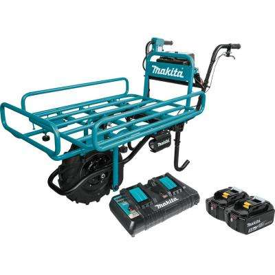 18-Volt X2 (36-Volt) LXT Lithium-Ion Brushless Cordless Power-Assisted Flat Dolly Kit with (2) Batteries 5.0Ah, Charger