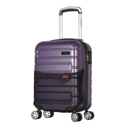 Nema 18 in. Purple Under the Seat Carry-On PC Hardcase Spinner with TSA Lock