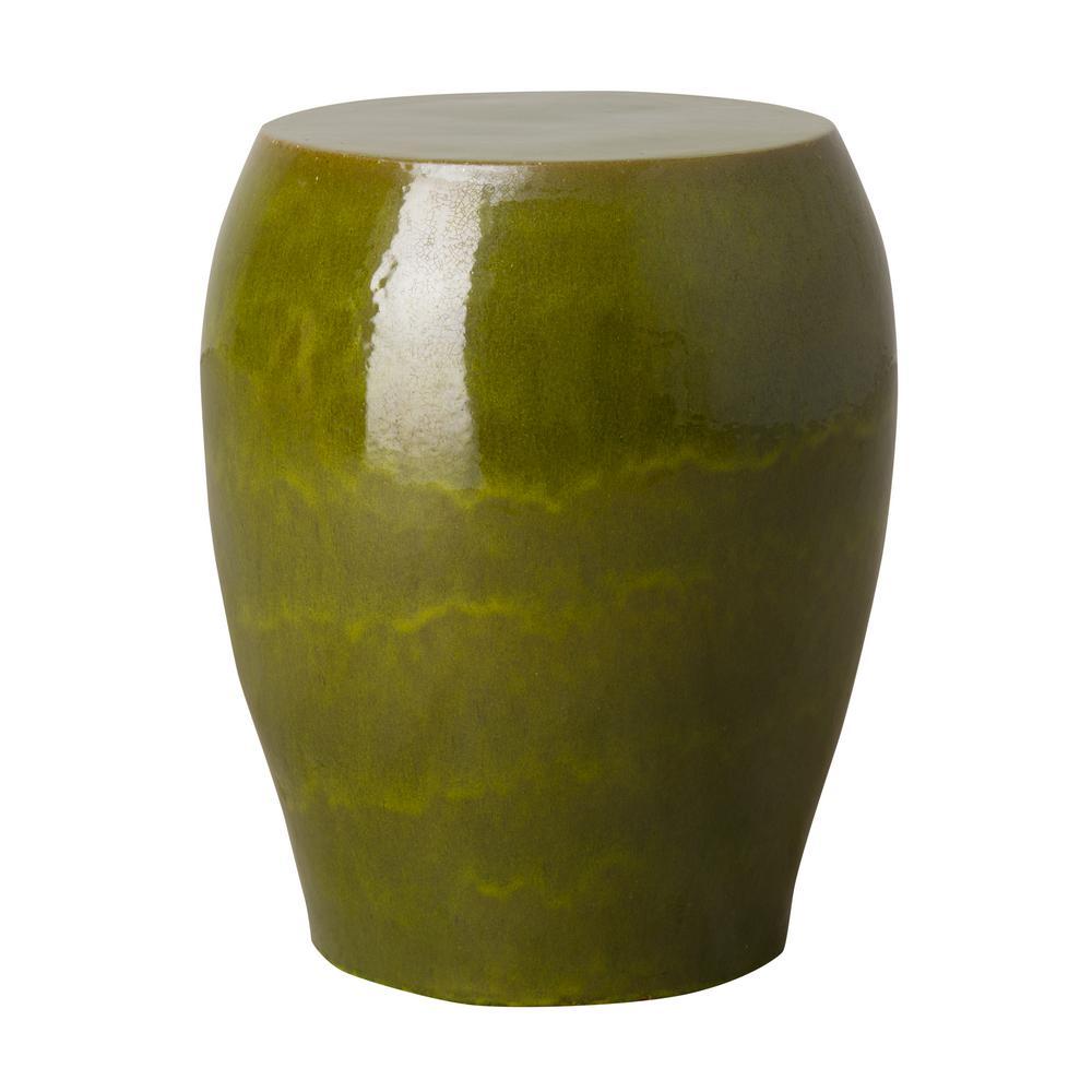 Seiji Green Indoor/Outdoor Ceramic Garden Stool/Table