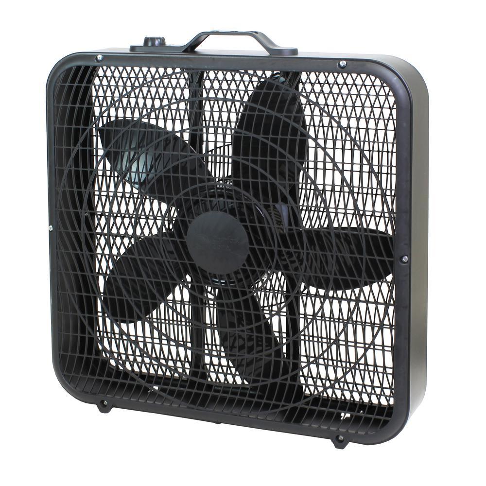 Lasko 20 In 3 Speed Weather Shield Performance Box Fan 3720 The Home Depot