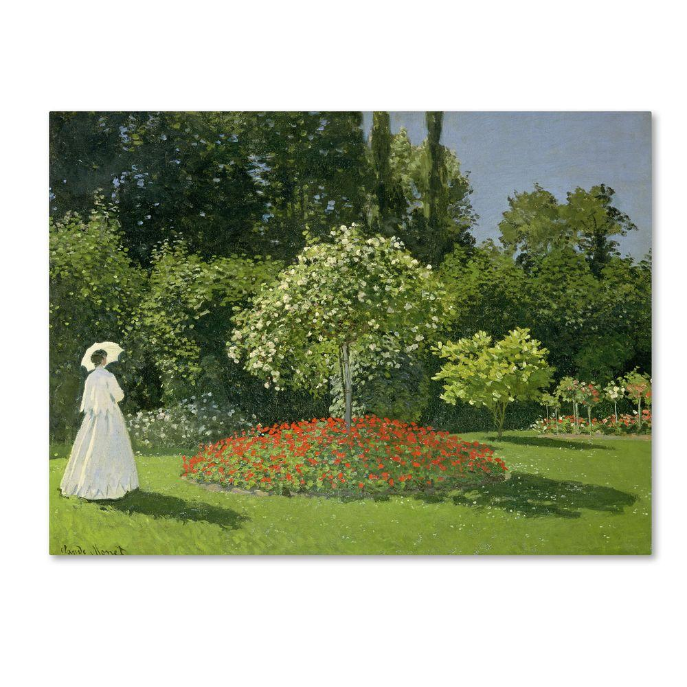 35 in. x 47 in. Jeanne Marie Lecadre in the Garden