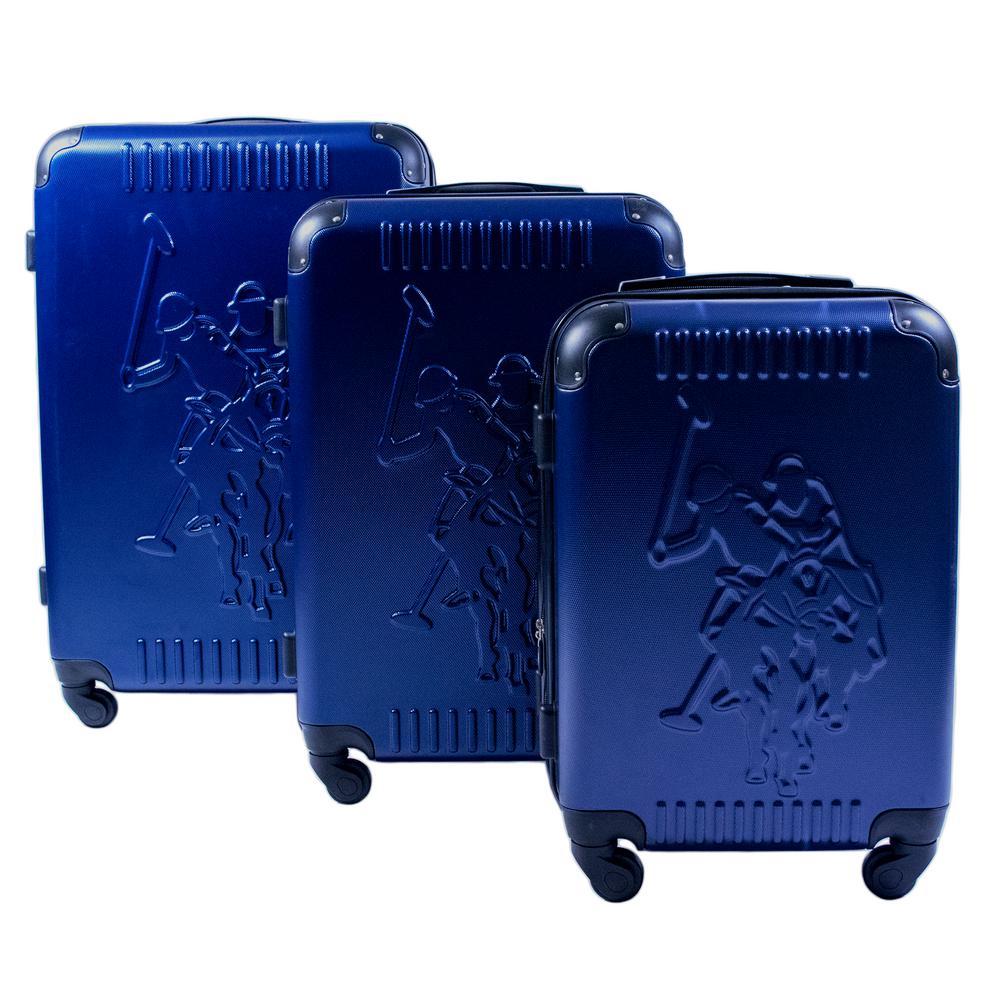 4a8cf1a562 U.S. Polo Assn. U.S. Polo 3 Piece Molded Spinner Luggage Set, Blue ...