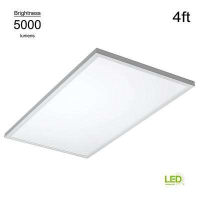 Commercial Drop Ceiling 2 ft. X 4 ft. White 4000K Dimmable Integrated LED Flat Panel Troffer (2 Pack)