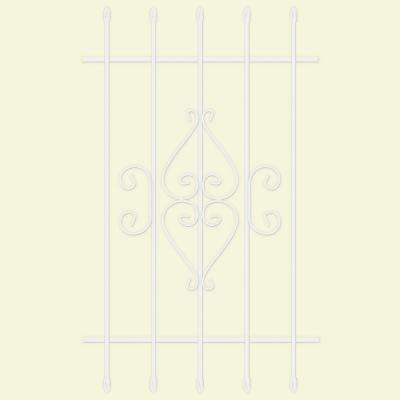 30 in. x 48 in. Su Casa White 5-Bar Window Guard