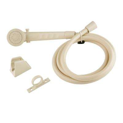 1-Spray RV Handheld Showerhead and Hose in Cream