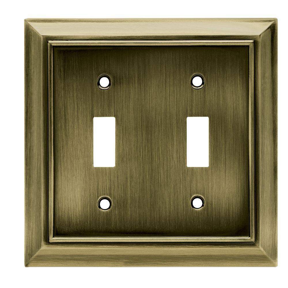 Brass Light Switch Covers Alluring Brass  Switch Plates  Wall Plates  The Home Depot Design Decoration