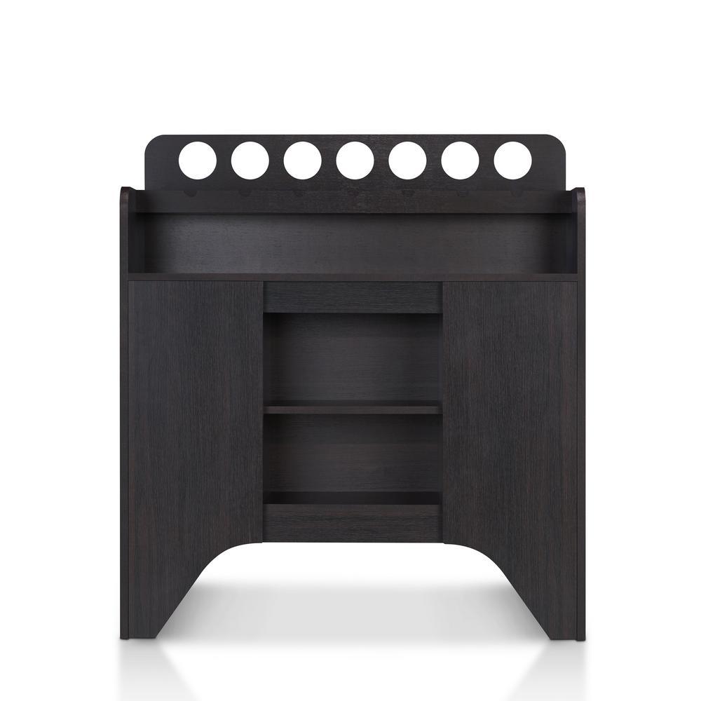 Manor 7-Bottle Wine Espresso Display Cabinet