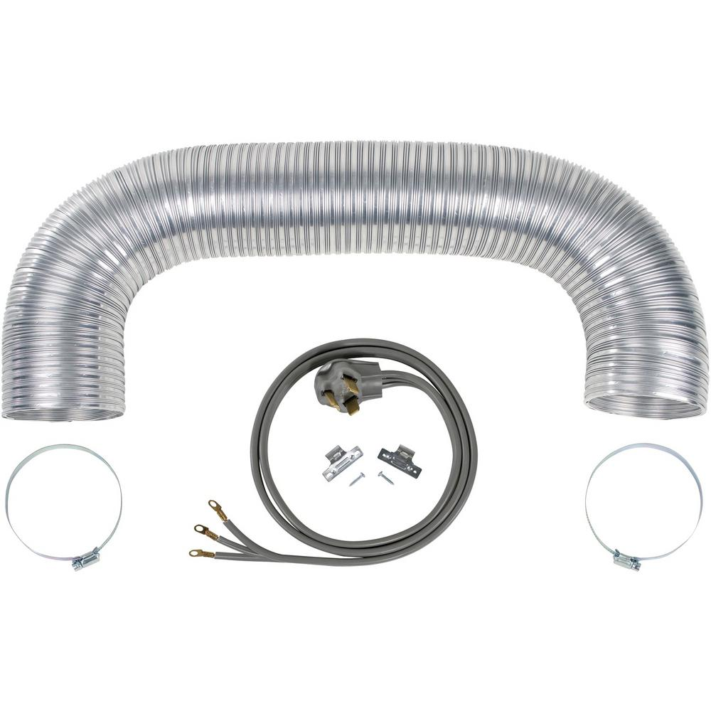 CERTIFIED APPLIANCE ACCESSORIES Electric Dryer Duct Kit with 3-Wire 30-Amp 6ft Cord