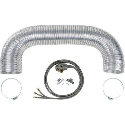 Electric Dryer Duct Kit with 3-Wire 30-Amp 6ft Cord