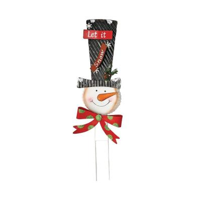 16 in. Metal Snowman Stick