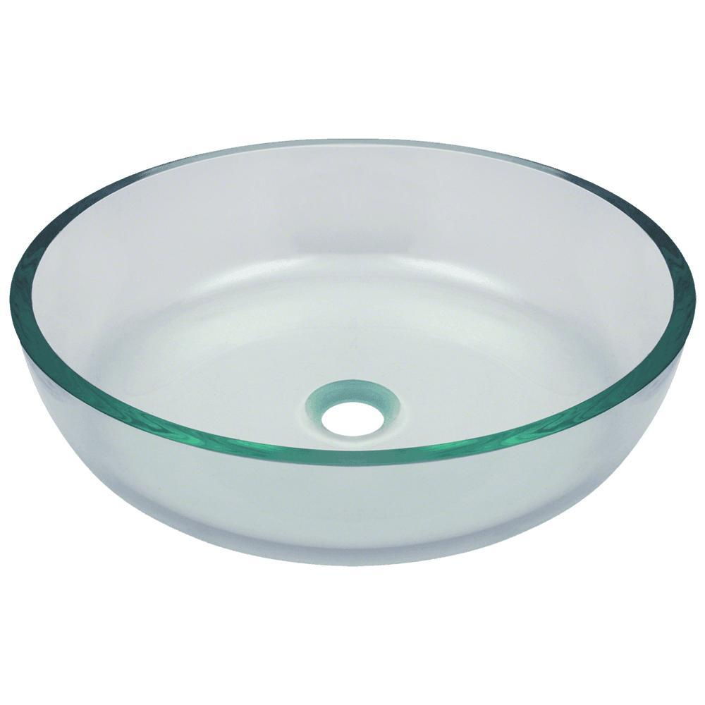 Mr Direct Glass Vessel Sink In Clear 625 The Home Depot