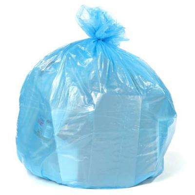 50 in. W x 48 in. H 65 Gal. 1.5 mil Blue Gusset Seal Low Density Recycling Bags (100-Case)