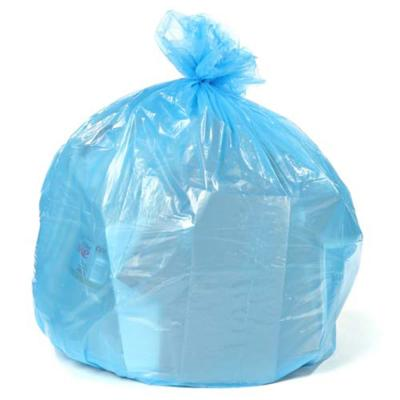 61 in. W x 68 in. H, 95-96 Gal. 1.5 mil Blue Gusset Seal Low Density Trash Bags (25 Case)