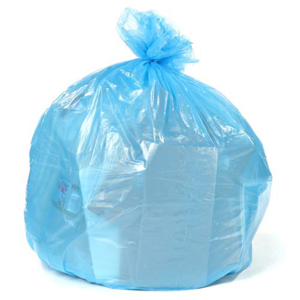 61 in. W x 68 in. H 95 Gal. - 96 Gal. 1.5 mil Blue Gusset Seal Low Density Trash Bags (50-Case)