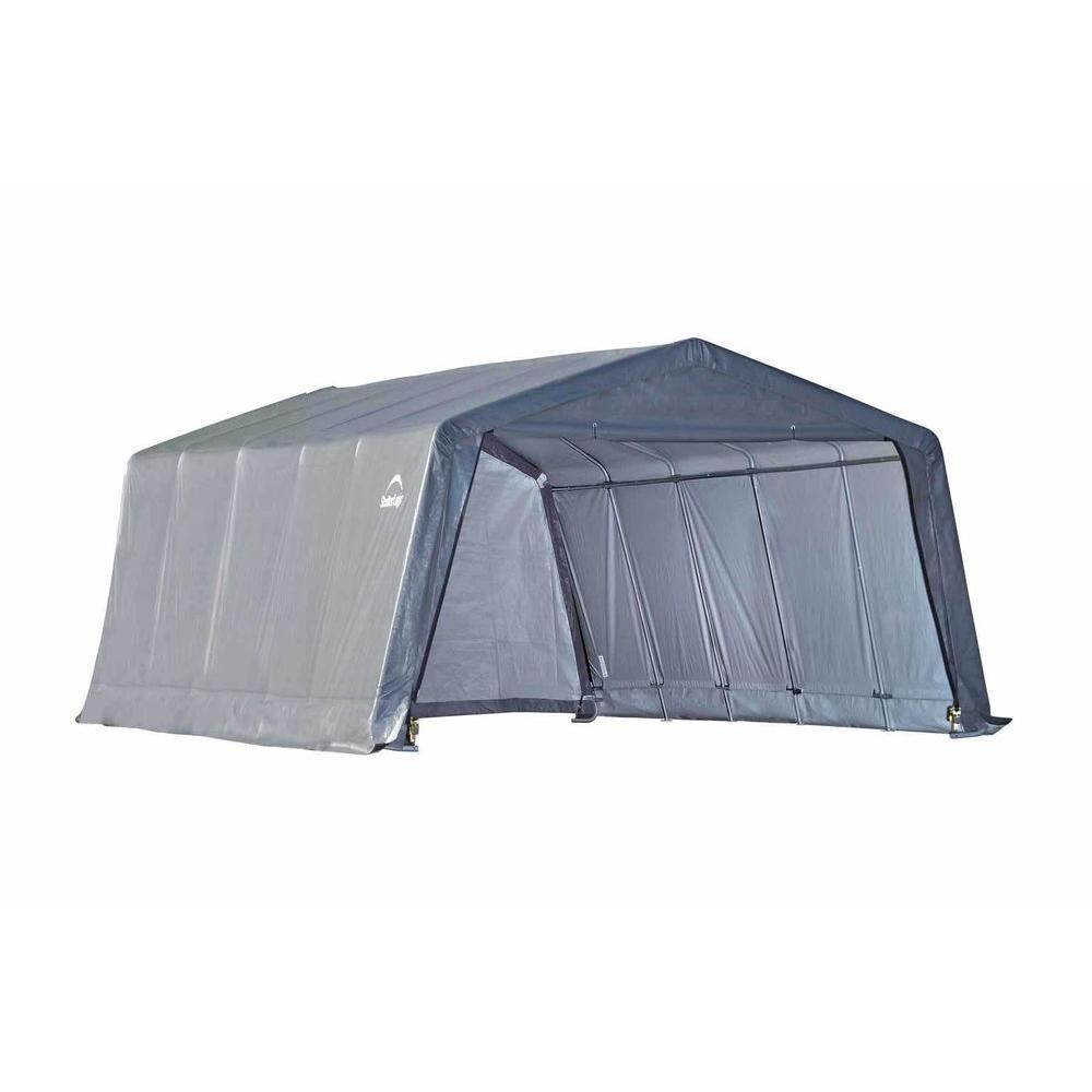 ShelterLogic Garage-in-a-Box 12 ft. x 20 ft. x 8 ft. Peak ...