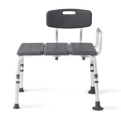Knockdown Transfer Bath Bench with Back, Microban Antimicrobial Protection