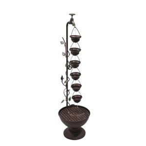 Alpine 36 inch 6 Hanging Cup Tier Layered Floor Fountain by Alpine
