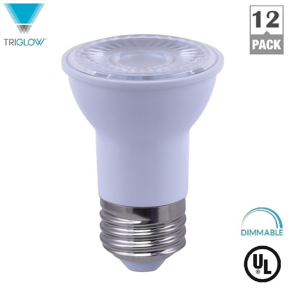 TriGlow 50-Watt Equivalent PAR16 Reflector Dimmable LED Light Bulb Soft White (12-Pack)