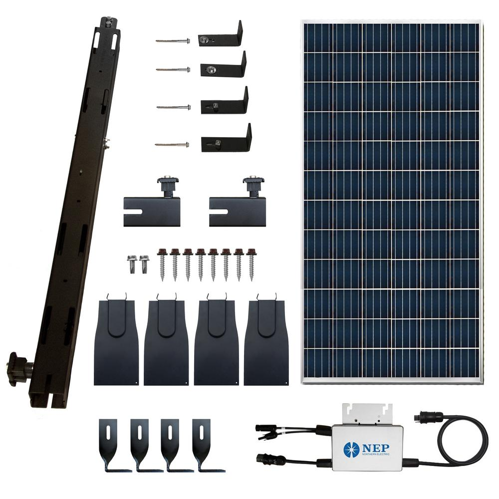 The RAQ Solar Paq 295-Watt On-Grid Panel Inverter Racking Kit