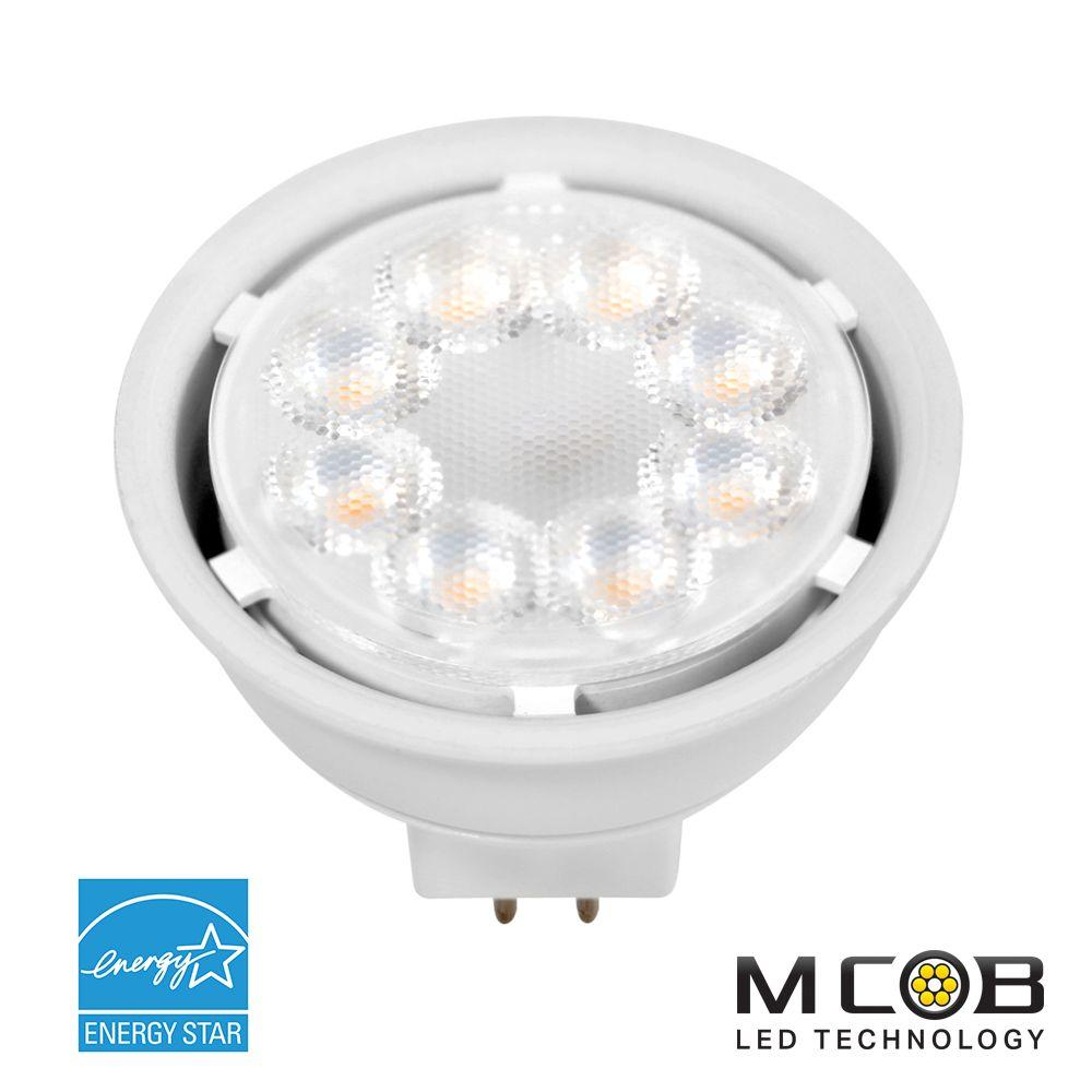 50W Equivalent Cool White (5000K) MR16 Dimmable MCOB LED Flood Light