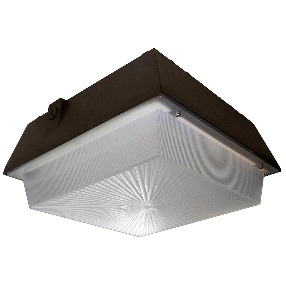 45-Watt Bronze Integrated LED Outdoor Large Garage Area Light