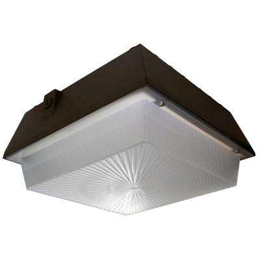 45-Watt Bronze Integrated LED Outdoor Large Garage Area Light