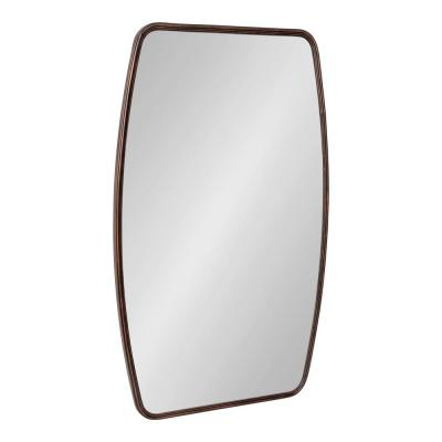 Caskill 32 in. x 20 in. Classic Rectangle Framed Bronze Wall Accent Mirror