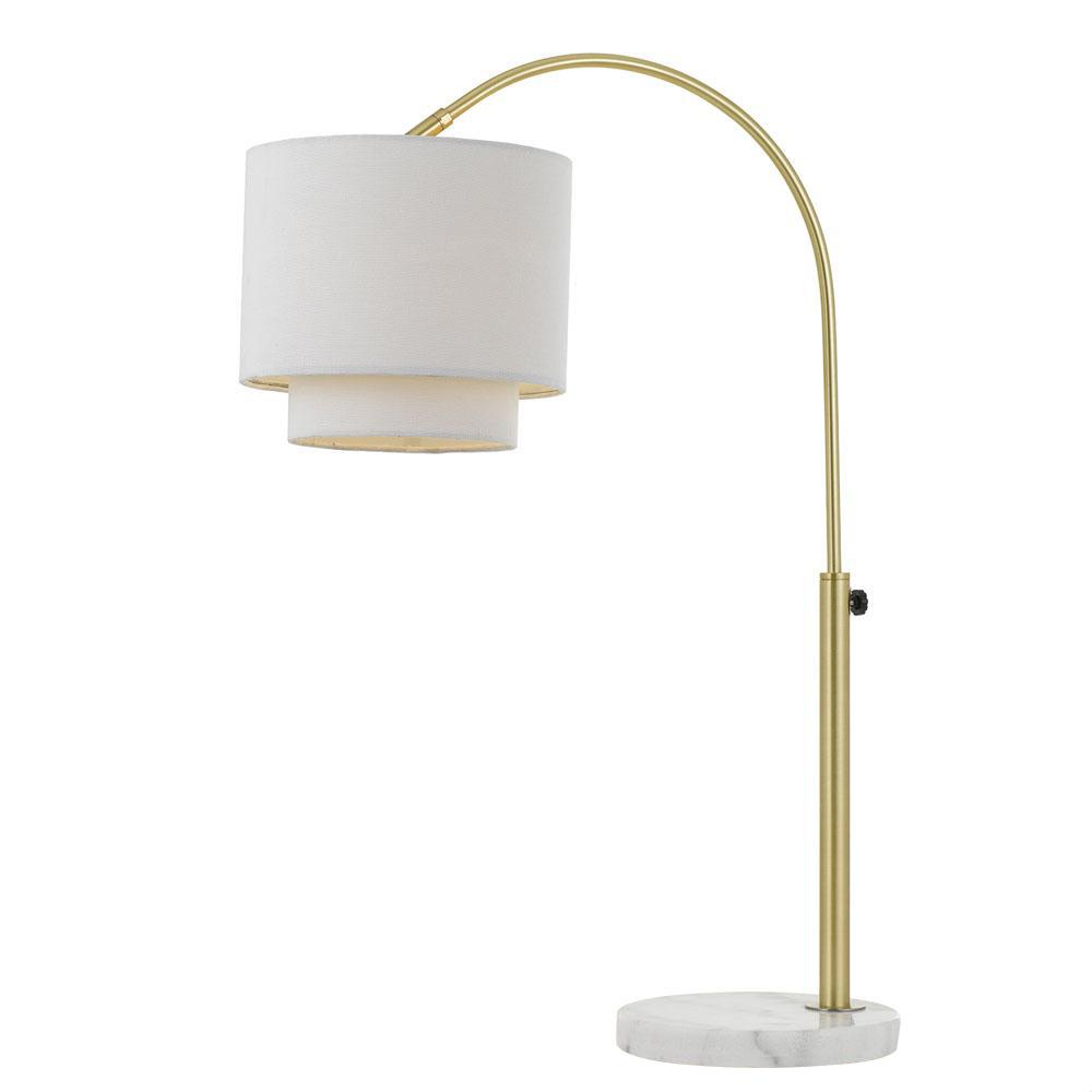 Af Lighting Arched 23 In Gold Table Lamp With Fabric Shade 9123 Tl