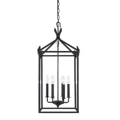 Hastings Collection 6-Light Rust Hanging Pendant