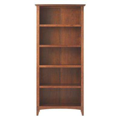 Artisan Medium Oak 5 Shelf Open Bookcase