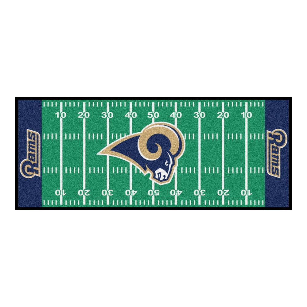 Los Angeles Rams 3 ft. x 6 ft. Football Field Runner Rug