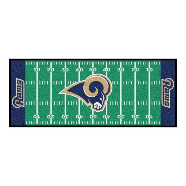 Los Angeles Rams 3 ft. x 6 ft. Football Field Runner Rug