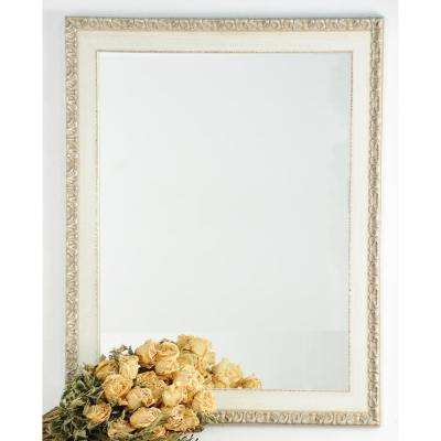 Rectangle Cream Chic Decorative Wall Mirror