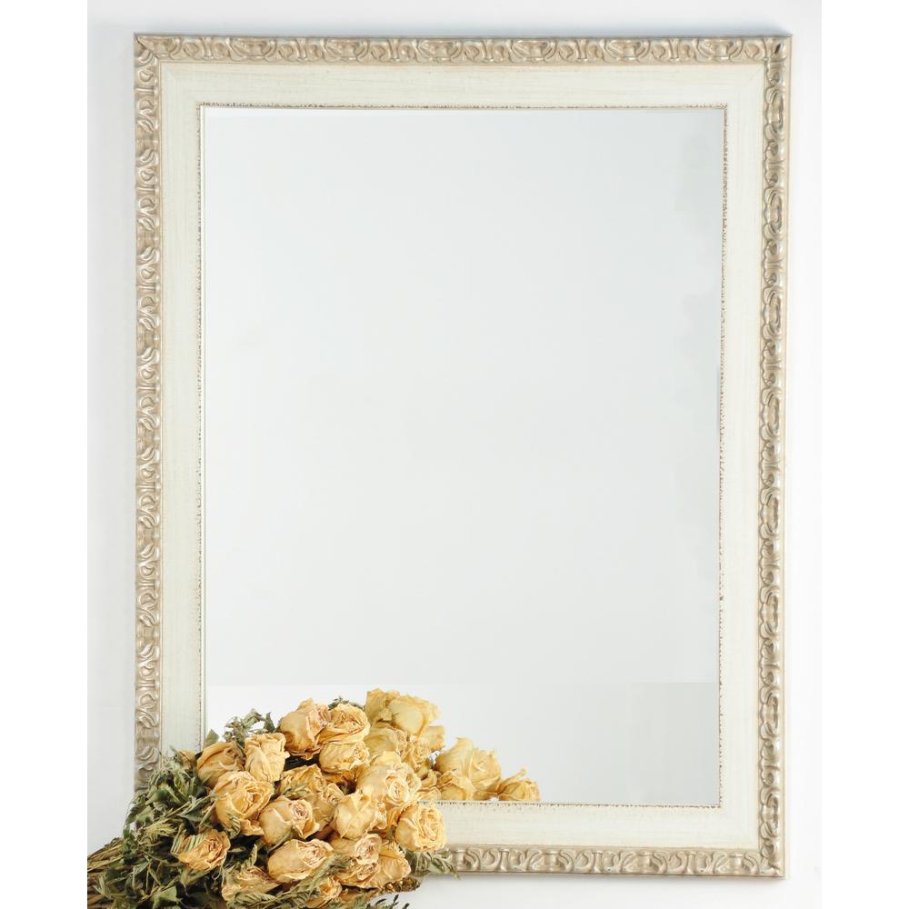 Rectangle Cream Chic Decorative Wall Mirror