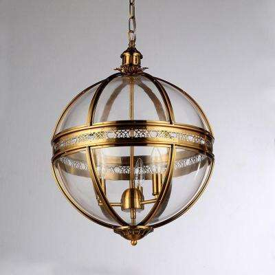 Williams 3-Light Antique Bronze Chandelier with Shade