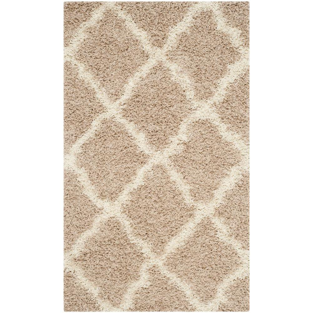 Safavieh Dallas Shag Beige Ivory 3 Ft X 5 Ft Area Rug