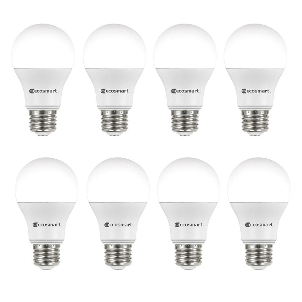 60-Watt Equivalent A19 Non-Dimmable Energy Star LED Light Bulb Soft White (8-Pack)