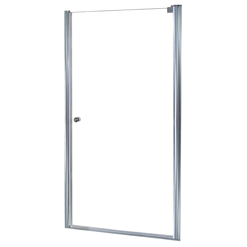 Foremost Cove 34 5 In X 72 In Semi Framed Pivot Shower Door In Silver With 1 4 In Clear Glass Cvsw3572 Cl Sv The Home Depot